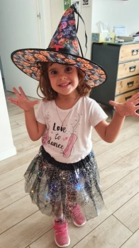 Kids LED Light Up Witch Costume for Halloween photo review
